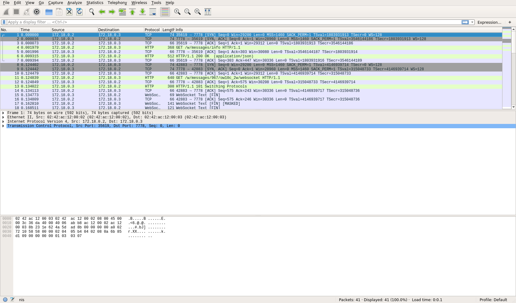 Wireshark Window